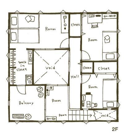 2階部分図面