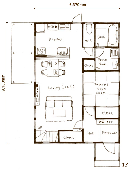 1階部分図面