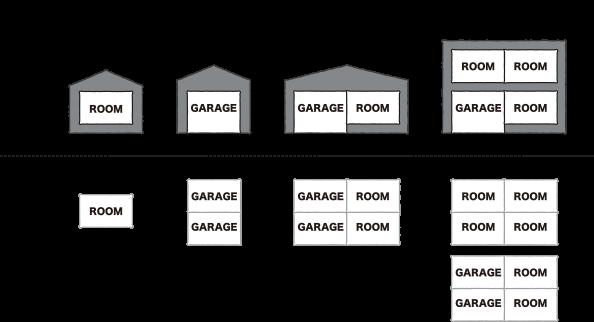 ユニット組み合わせの立面と平面の解説画像