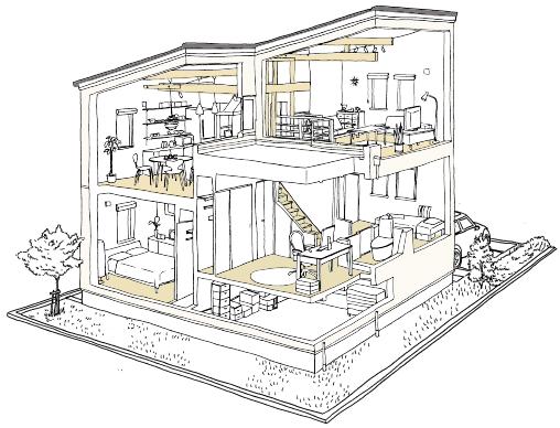 建物内構造イラスト