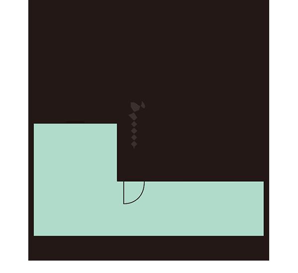 GE32D-E-BB(1.5K)スカイバルコニー平面図