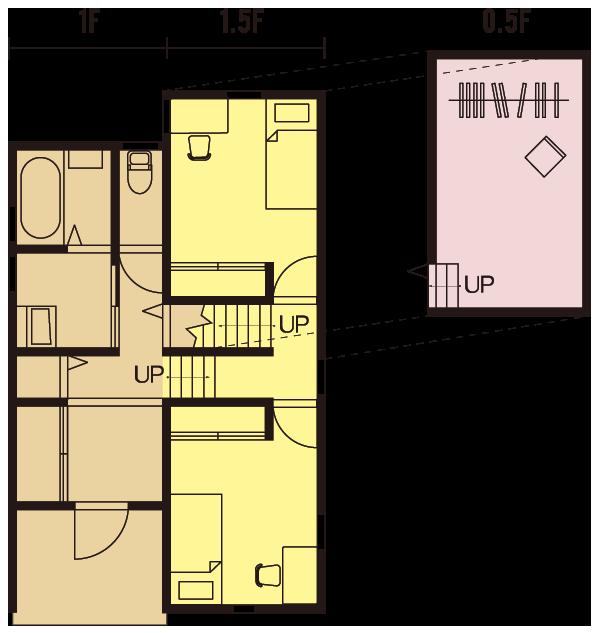 GV25.5D-S-BB1F間取り
