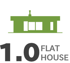 FLAT HOUSE 平屋のイラスト